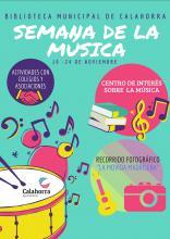 """La Biblioteca municipal """"Pedro Gutiérrez"""" celebra la Semana de la Música del 19 al 24 de noviembre"""